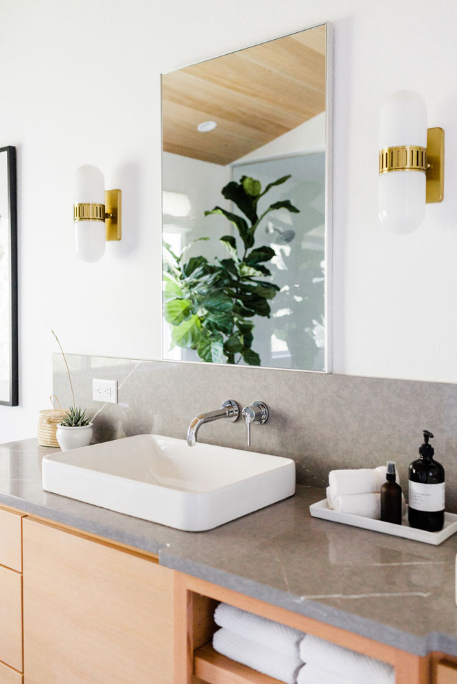 Master bath sink and light fixtures
